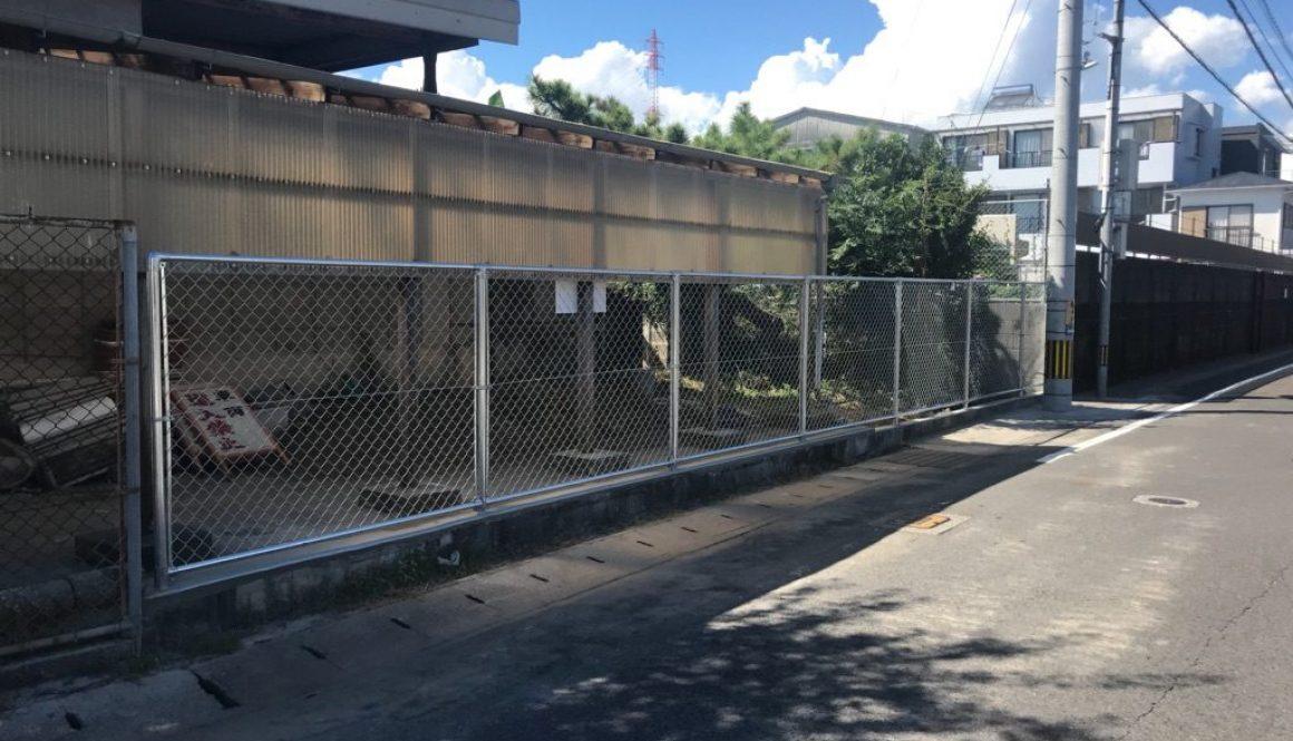 高校 フェンス工事 完成